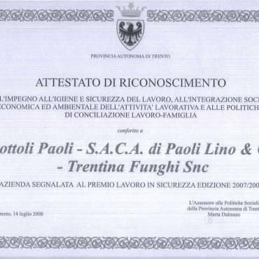 ATTESTATO RICONOSCIMENTO SOTTOLI PAOLI